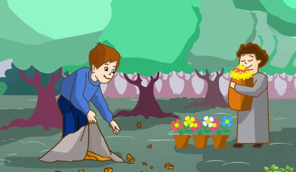 نهاية قصة قصيرة عن نظافة المدرسة